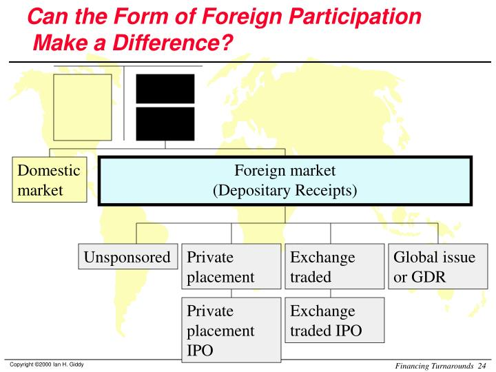 Can the Form of Foreign Participation
