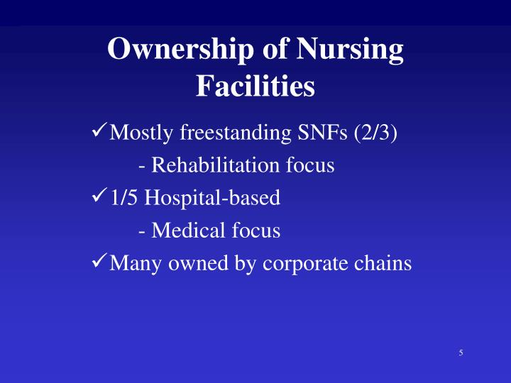 Ownership of Nursing Facilities
