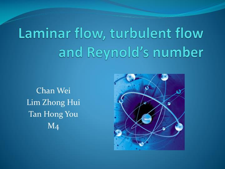 laminar flow turbulent flow and reynold s number n.
