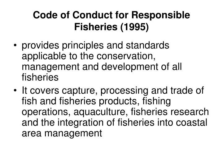 Code of Conduct for Responsible Fisheries (1995)