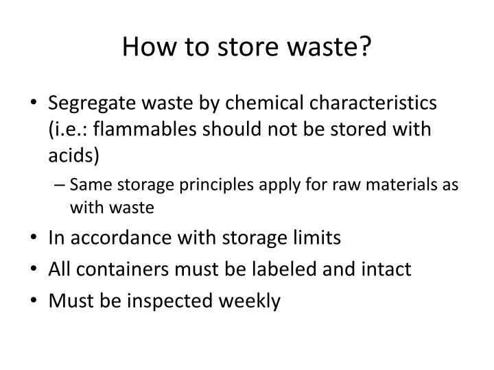 Ppt Chemical Waste Management Powerpoint Presentation