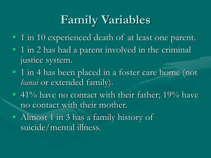 Family Variables