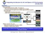 integrating architecture for air and space lvc environments ia aslvce