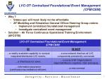 lvc ot centralized foundational event management cfm cem