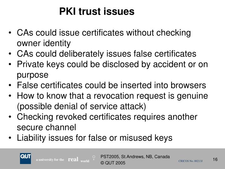 PKI trust issues