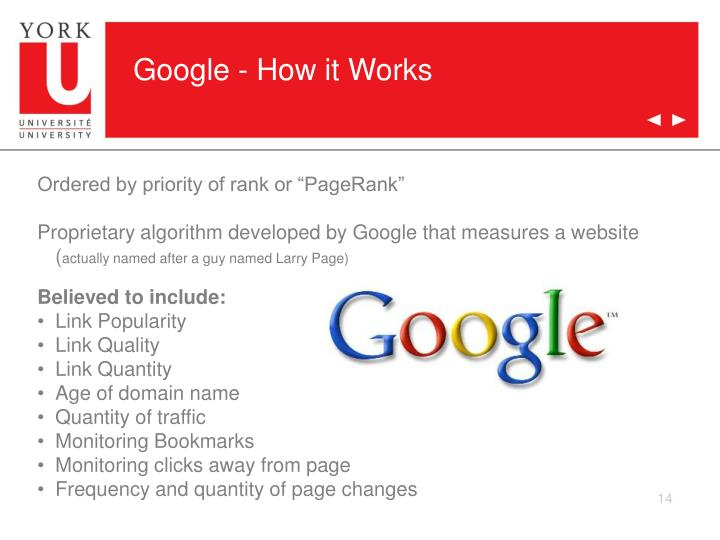Google - How it Works