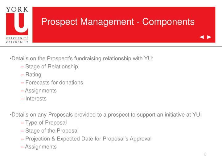 Prospect Management - Components