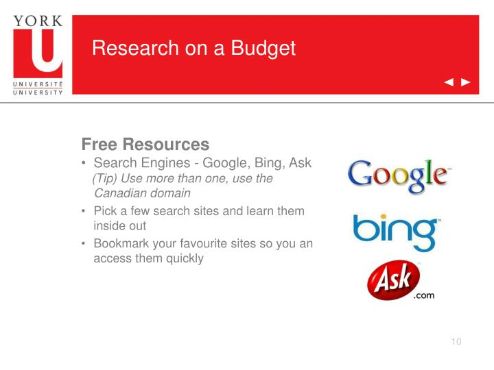 Research on a Budget
