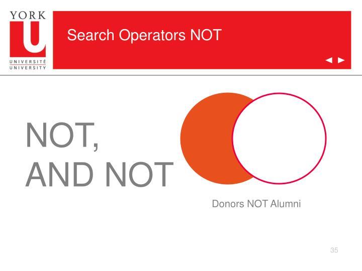 Search Operators NOT