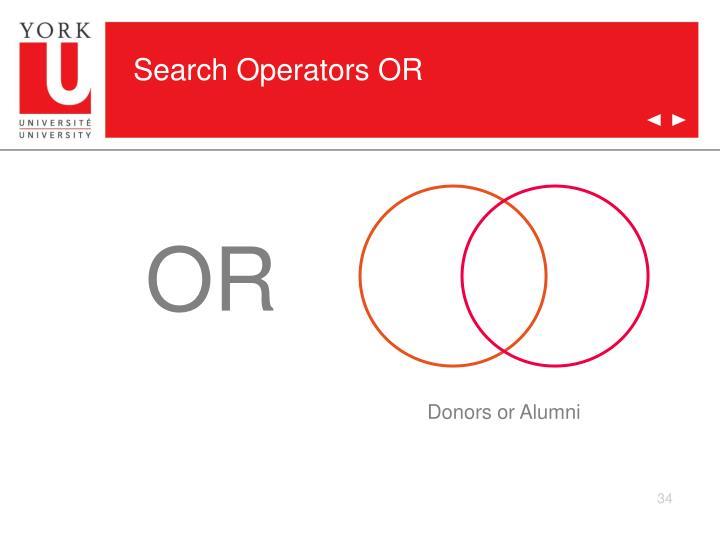 Search Operators OR