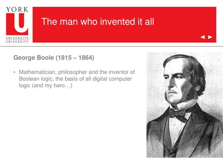 The man who invented it all