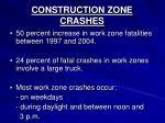 construction zone crashes