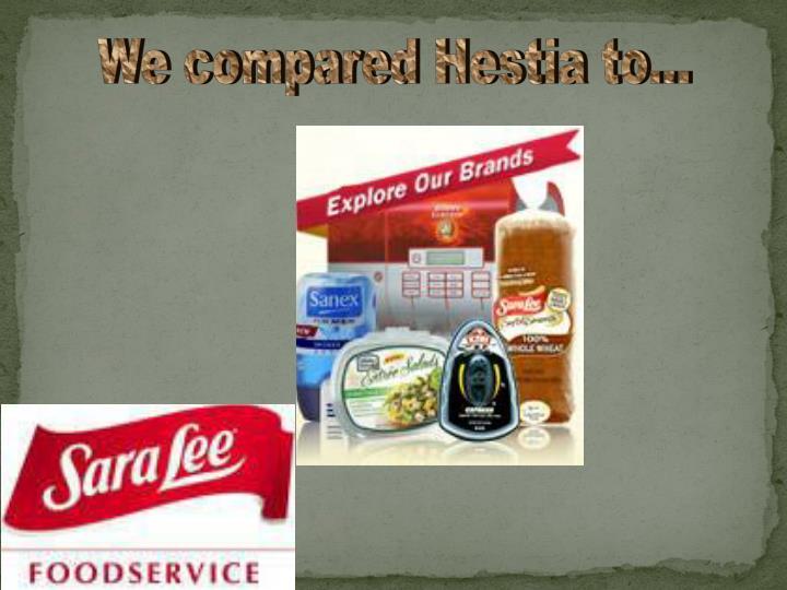 We compared Hestia to...