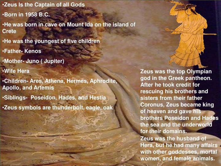 Zeus Is the Captain of all Gods