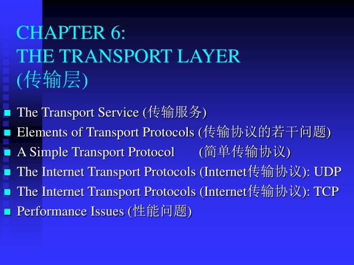 chapter 6 the transport layer n.