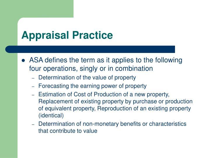 Appraisal Practice
