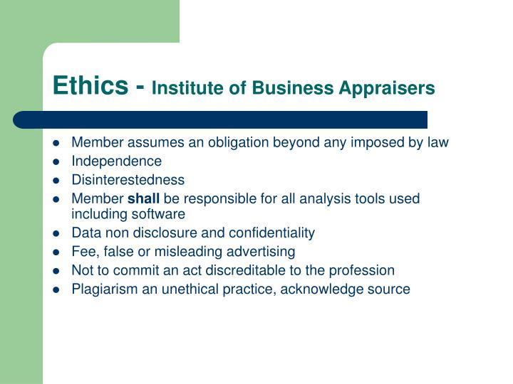 Ethics -