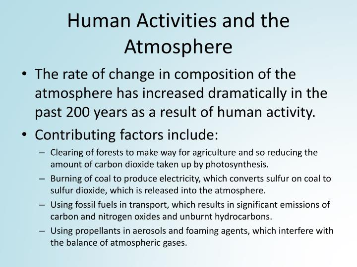 Human Activities and the Atmosphere