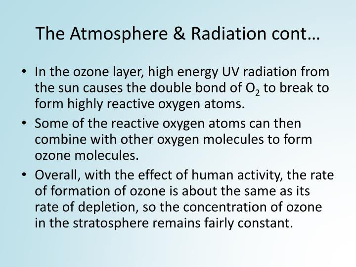 The Atmosphere & Radiation cont
