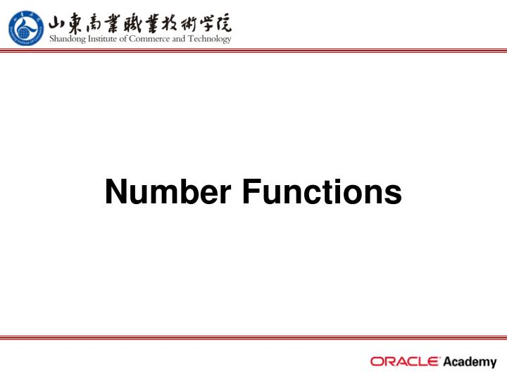 Number functions