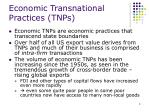 economic transnational practices tnps
