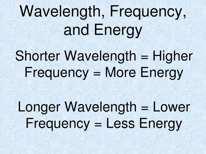 Wavelength, Frequency,