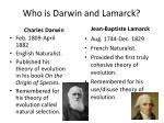 who is darwin and lamarck