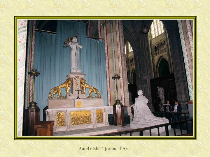 Autel dédié à Jeanne d'Arc.
