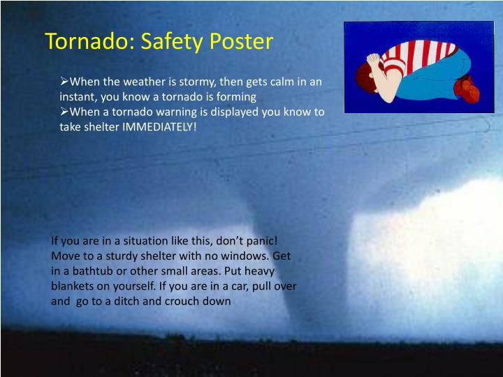 ppt - tornado  safety poster powerpoint presentation