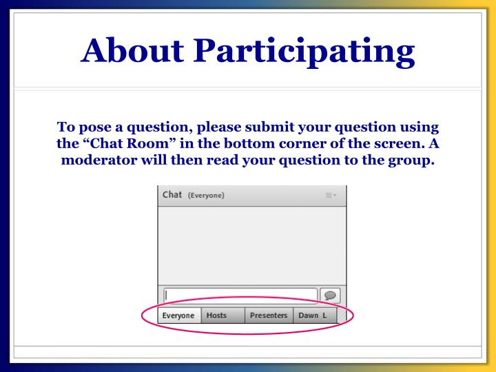 About Participating