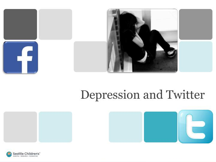 Depression and Twitter