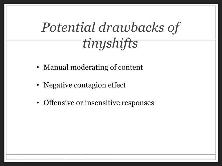 Potential drawbacks of