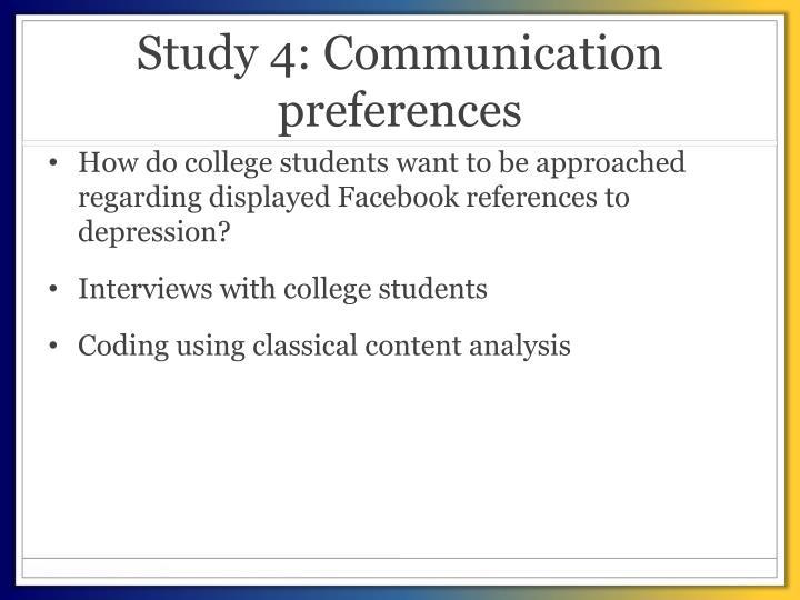 Study 4: Communication preferences
