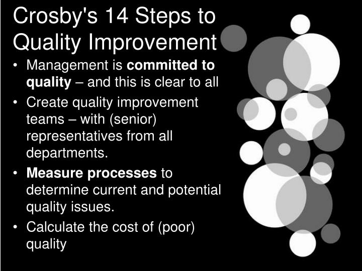 Crosby's 14 Steps to Quality Improvement