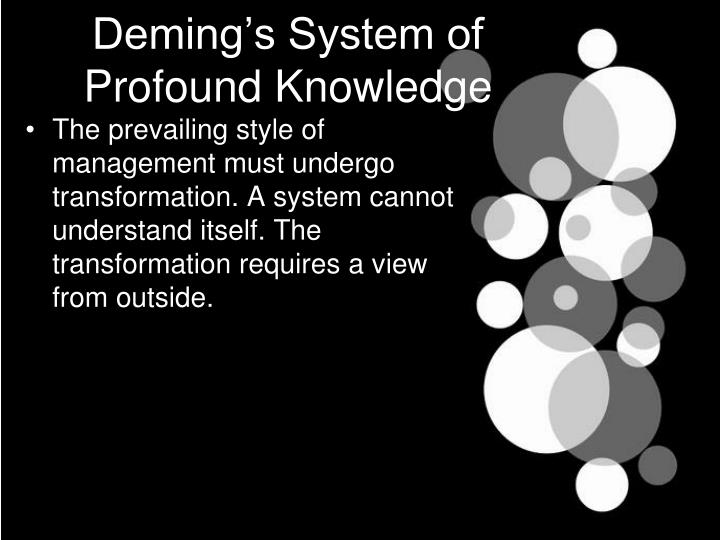 Deming's System of Profound Knowledge