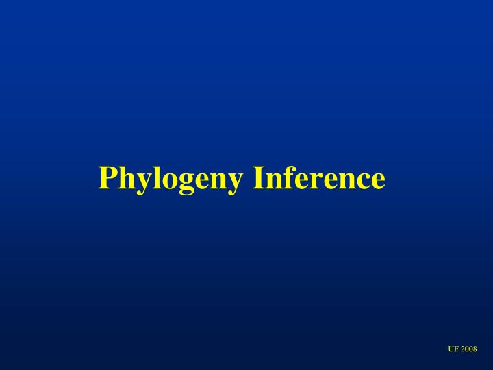 Phylogeny Inference