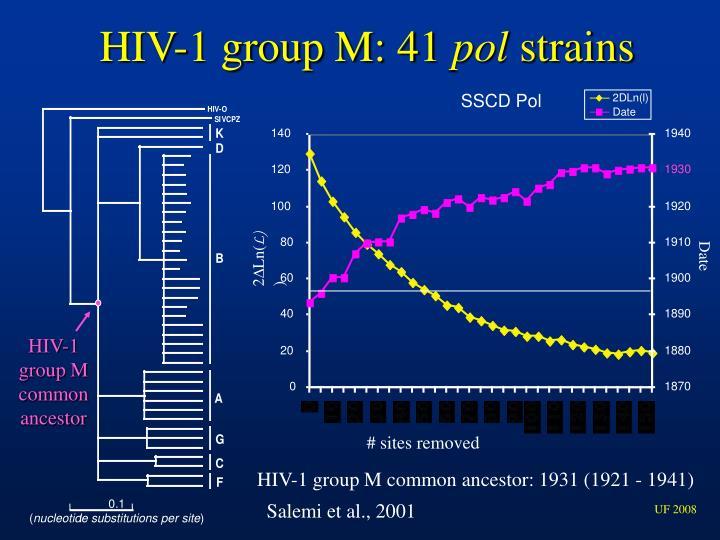 HIV-1 group M: 41