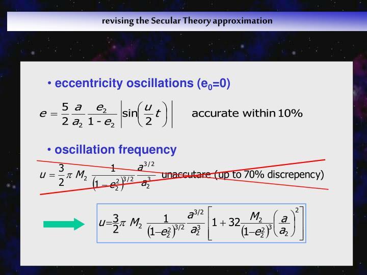 eccentricity oscillations (e