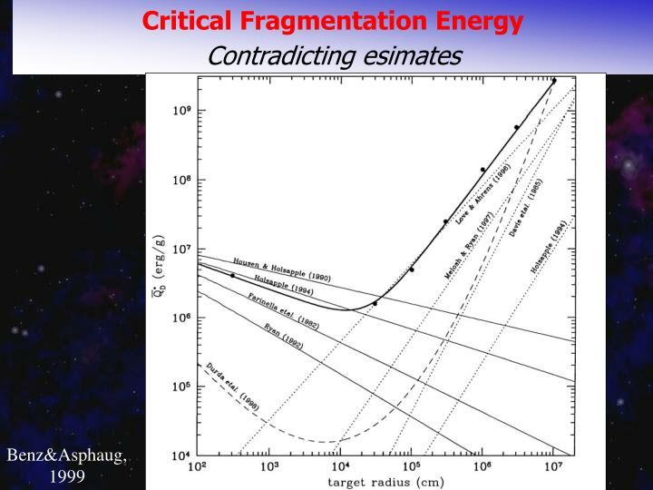 Critical Fragmentation Energy