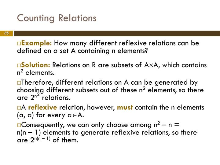 Counting Relations