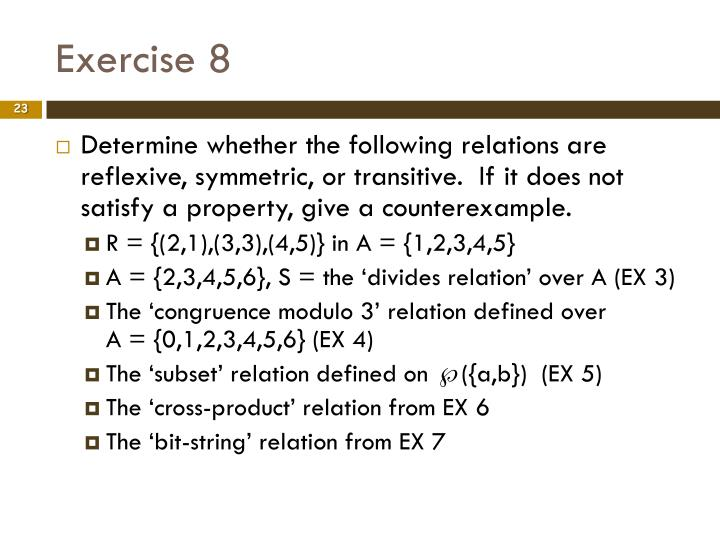 Exercise 8
