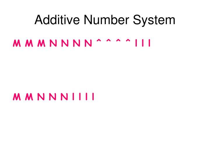 Additive Number System
