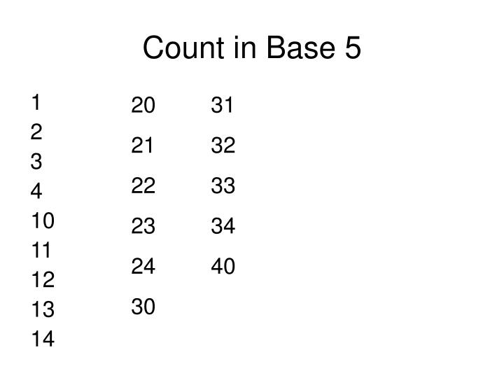 Count in Base 5