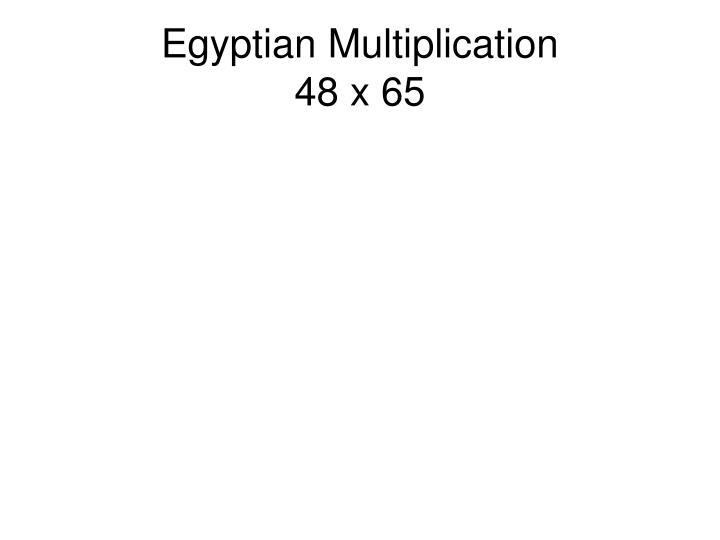 Egyptian Multiplication