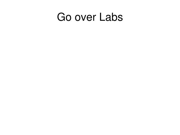 Go over Labs
