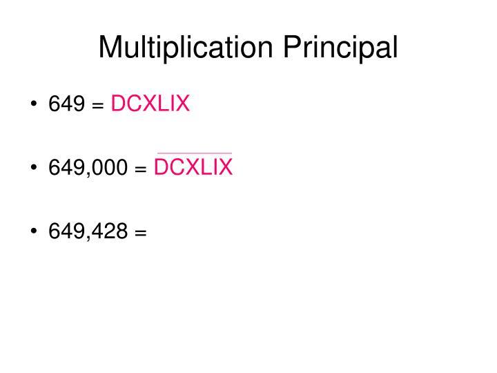 Multiplication Principal