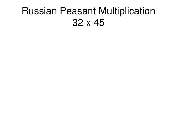 Russian Peasant Multiplication