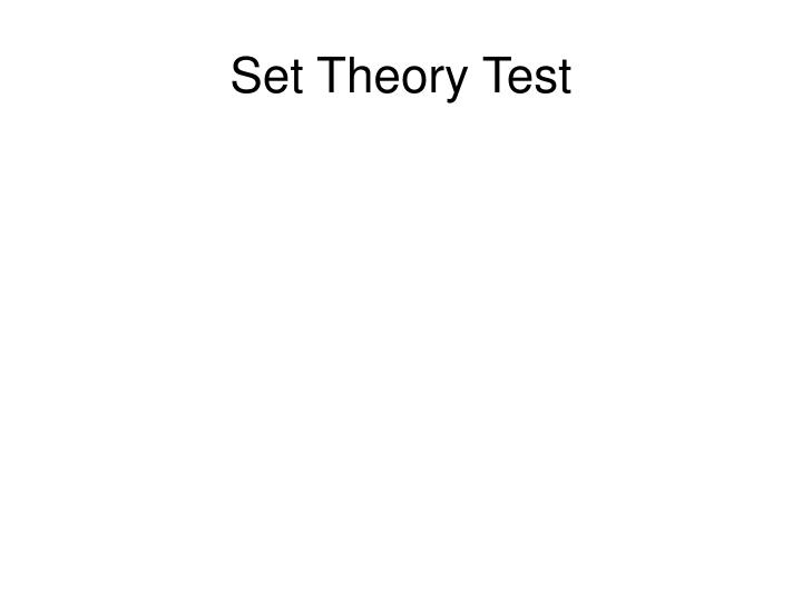 Set Theory Test