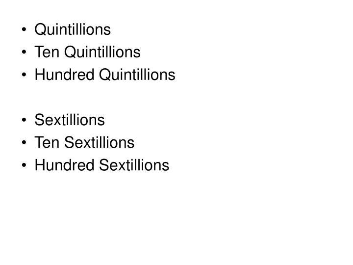 Quintillions