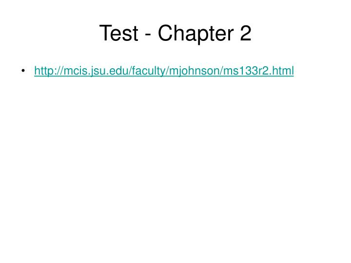 Test - Chapter 2